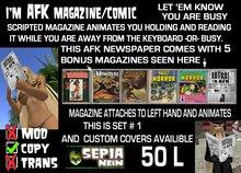I'm AFK-magazine w/animation (&bonusPack Mags) [set1]