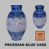 Prussian blue vase