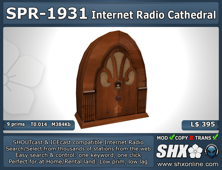Internet Radio - SHX - SHOUTcast & ICEcast - SPR-1931
