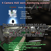 4 Camera Security System HUD- Instructions Inside