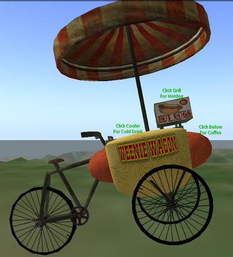 Bicycle Hot Dog Cart