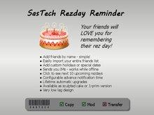 SasTech Rezday Reminder