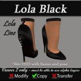 Lola Black Pumps - Fetish Heels