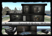 "PROMO SPECIAL OFFER  House Sky Box ""Xena"" FULL FURNISHED 99 Prim  29 L$"
