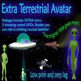 Extra Terrestrial Alien Avatar, mit 3 UFOs und vieles mehr!