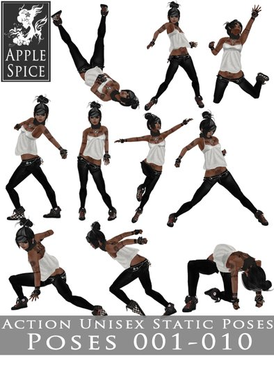 Apple Spice - Action Poses 001-010 FATPACK