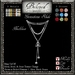 Beloved Jewelry : Gemstone Slide Necklace (Platinum Gold Metal/Stone Change) Texture Change