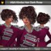 A&A Kimba Hair Dark Rose (FUNCTIONAL DEMO). Edgy asymmetric curly short hairstyle