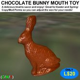 Chocolate Bunny Mouth Toy (Boxed)