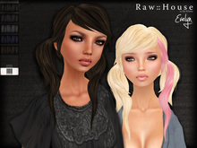 RAW HOUSE :: Evelyn Hair [Blacks] w/ texture changing highlights