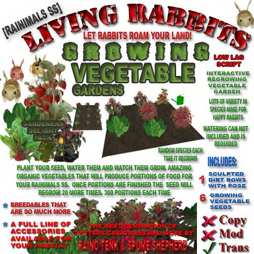 [Rainimal-SS] Living Rabbit Food - Growing Vegetables