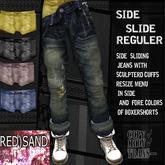 (RED)SAND_side slide jeans -reguler