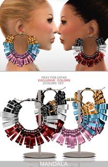 (70%OFF SALE)LIMITED colors[MANDALA]SENJYU EARRINGs set/2 colors set