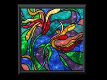 Stained Glass Picture - Colors of Paradise