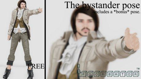 Poormator -(FREE) The Bystander Pose ( BOXED )