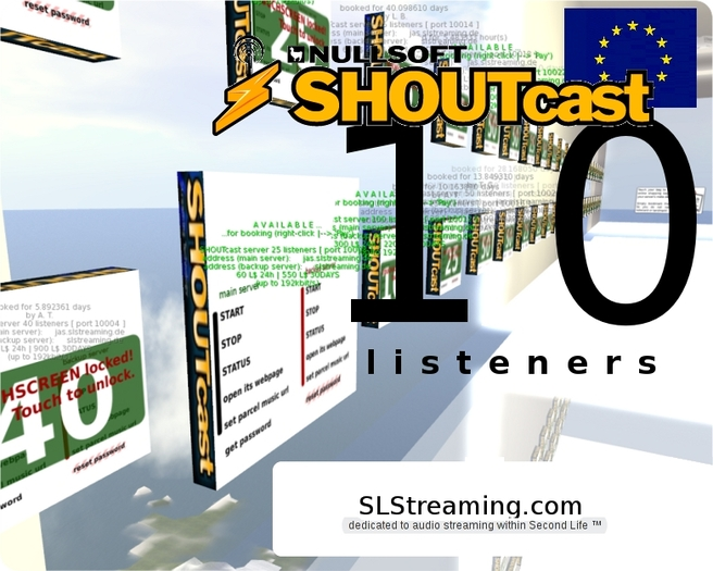 SHOUTcast server 10 listeners ONE MONTH 30 days