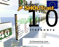 SHOUTcast server 10 listeners 24h