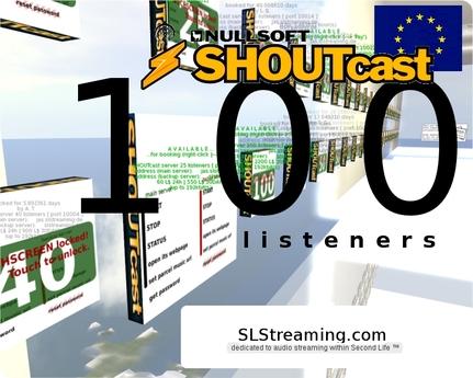 SHOUTcast server 100 listeners 24h