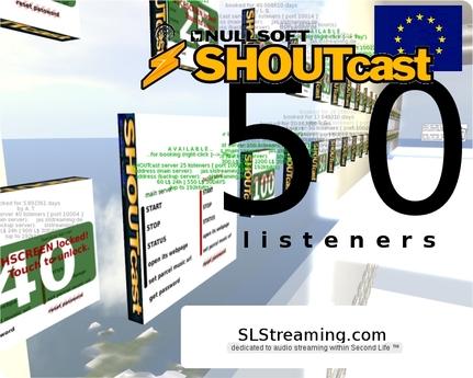 SHOUTcast server 50 listeners ONE MONTH 30 days