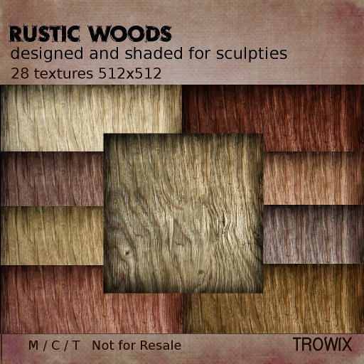 Trowix - Rustic Wood Textures for Sculpties