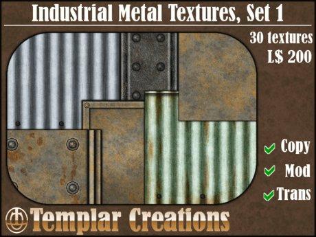 Industrial Metal Textures, Set 1