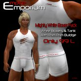 Empire Bag - White Button Boxers, Bagged