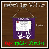 *TLD* Mother's Day Art-Purple