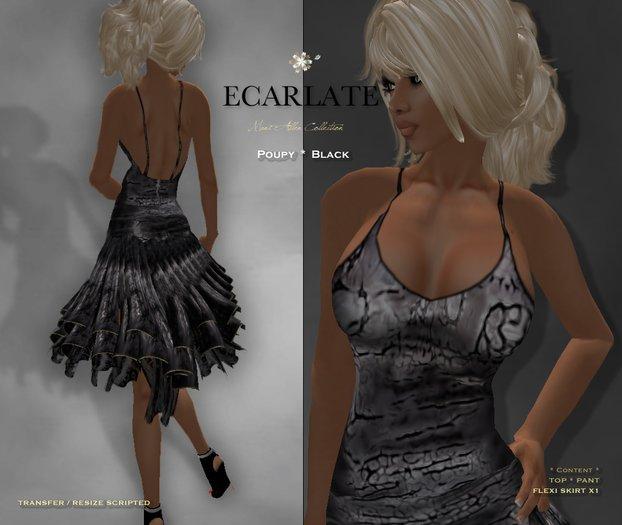 Ecarlate - Poupy - Black * Dress Gown Formal * Robe