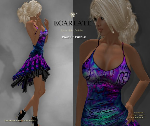 Ecarlate - Poupy - Purple * Dress Gown Formal * Robe