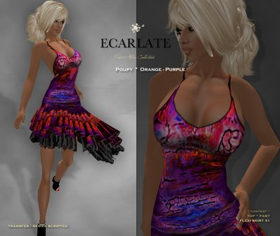 Ecarlate - Poupy - Red Purple * Dress Gown Formal * Robe