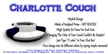 ** SALE ONLY 1 L ** Charlotte Couch * Any Color Scripted *
