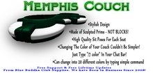 ** SALE ONLY 1 L ** Memphis Couch * Any Color Scripted *