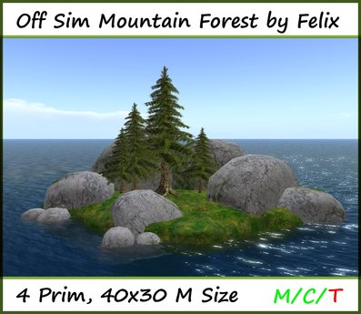 Off Sim Forest Mountain Scene by Felix