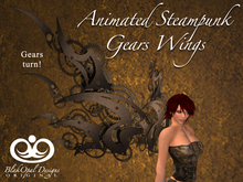 Animated Steampunk Gears Wings For Ladies