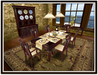 Dinner Party Dining Set for 6: Walnut Contemporary Wood Top