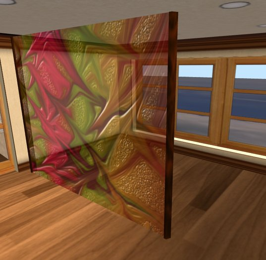 Room Divider Abstract Stained Gl