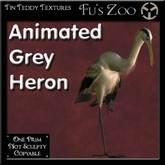 *TT* 1 Prim Animated Grey Heron
