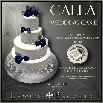 Terrific Second Life Marketplace Wedding Cake Calla Lily Round Navy Funny Birthday Cards Online Fluifree Goldxyz