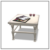 Coffee table with Magazines & candles - Valentine's Day edition - Belle Belle Furniture