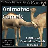 Two Handsome Smoothly Animated Camels - great for Egyptian sims, or ideal camel pets :-)