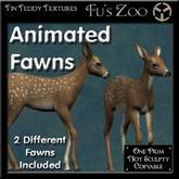 Pair of Smooth Animated Fawn s - deer for your park or garden