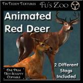 Two Animated Red Deer - Beautiful deer for your home or garden