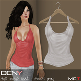 DCNY Soft Scoop Tank in Warm Grey