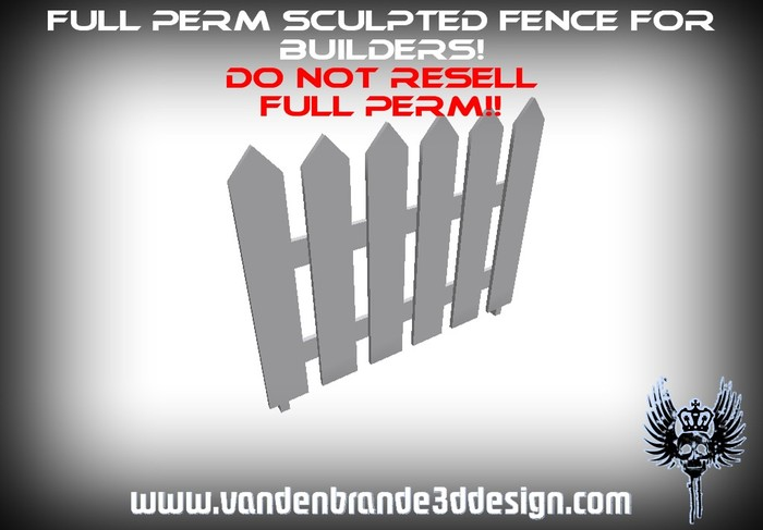 ~Full perm wooden fence + Maps! for builders