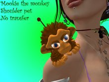 MOOKIE mini furball brown monkey (shoulder pet)
