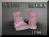::: Shelly Laufer Work Boots [Pink] For Women :::
