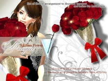 *:..Silvery K.:*Red Rose Bouquet SET