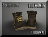 ::: Shelly Laufer Work Boots [Brown] For Women :::