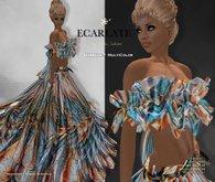 Ecarlate - Izabella - MultiColor * Dress Gown Formal * Robe