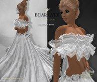 Ecarlate - Izabella - White * Dress Gown Formal * Robe